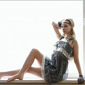 TeenModelingTV Alice Grey & Lace Dress Picture Set