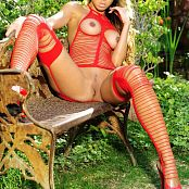 KTso Red Stringy Lingerie Loyal Zipset 064