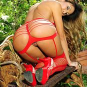 KTso Red Stringy Lingerie Loyal Zipset 086