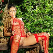 KTso Red Stringy Lingerie Loyal Zipset 121