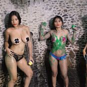 Pamela Martinez Thaliana Bermudez and Luciana Model Body Paint TCG Bonus Level 2 HD Video 021 011020 mp4