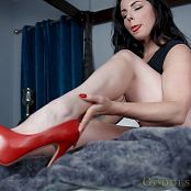 Alexandra Snow Red Nails Red Heels Video 071020 mp4