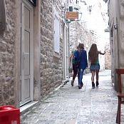 PilGrimGirl Montenegro Shooting In The Old City HD Video