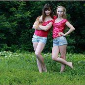 TeenModelingTV Alice and Sarah Polkadot Tops 005