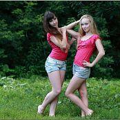 TeenModelingTV Alice and Sarah Polkadot Tops 011