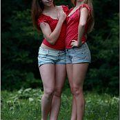 TeenModelingTV Alice and Sarah Polkadot Tops 046