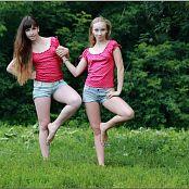 TeenModelingTV Alice and Sarah Polkadot Tops 056