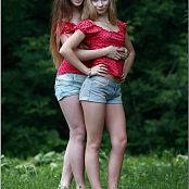 TeenModelingTV Alice & Sarah Polkadot Tops Picture Set