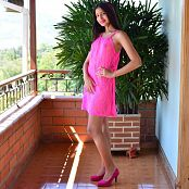 Silver Pearls Dulce Pink Dress Set 002 011
