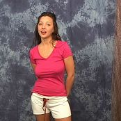 Christina Model Pink T Shirt White Shorts CMV111 AI Enhanced TCRips Video 191120 mkv