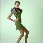 TeenModelingTV Masha Green Dress 008