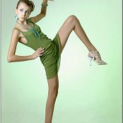 TeenModelingTV Masha Green Dress 092