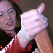 Shiny Megan Red Latex Handjob Video 030121 wmv