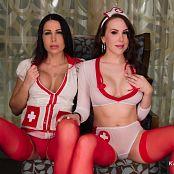 Katie Banks and Aleah Jasmine Nursing Your Cock 011