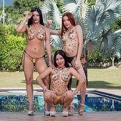 Dayana Medina Susana Medina Glenda Gold Stickers TCG Bonus Level 2 Set 015 tcg bonuslevel 02 015 46