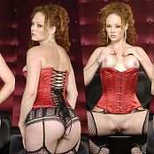 XXXCollections Wallpapers Pack Part 144 Audrey Hollander Red Corset Whore 4K UHD Wallpaper