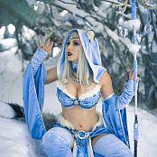 Jessica Nigri OnlyFans Snow Blue Pasties 004