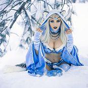 Jessica Nigri OnlyFans Snow Blue Pasties 006