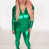 Britney Spears Green Shiny Catsuit Tease Video 120521 mp4