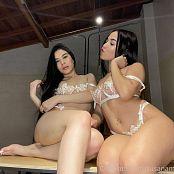 Susana Medina and Emily Reyes Onlyfans White Lingerie Tease 002