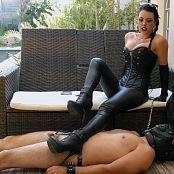 Goddess Kim Ashtray For The Leather Goddess HD Video