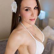 Katie Banks White Bikini Cum 005