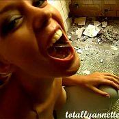 Annette Schwarz Gorgeous Girl In Abandoned Warehouse Drinks Piss Video