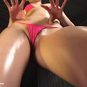 Cute Japanese Babe In Pink Bikini Oiled Up Trance Dance Video
