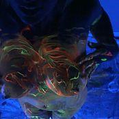 Nikki Sims Black Light Neon Body Paint HD Video