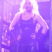 Britney Spears Slave 4 U Freakshow Black Latex Catsuit Outfit HD Video