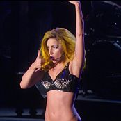 Lady Gaga Live In Sexy Black Latex Bikini HD Video