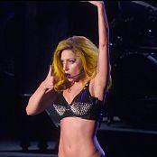 Lady Gaga Live In Sexy Black Latex Bikini HD Video