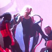 Britney Spears Im A Slave 4 U Live Las Vegas 5 9 2014 Sexy Black Latex Catsuit 291014mp4 00005