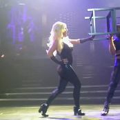 Britney Spears Various POM Tour Black Latex Outfits HD Video