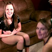 Megan And Taylor Sexy Shiny Latex Magicwand Fun HD Video