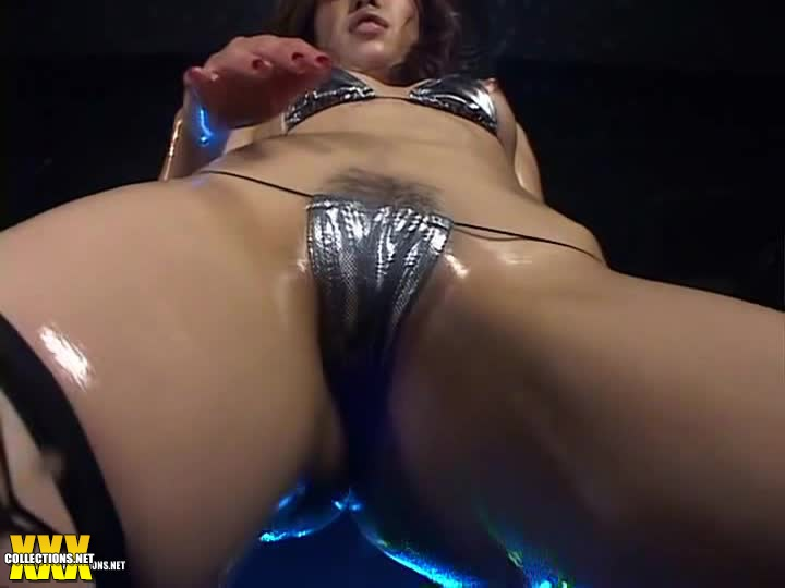Sexy japan oily gogo girl dynamic topless dance