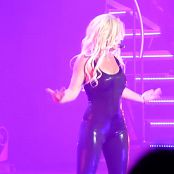 Britney Spears Black Skin Tight And Shiny Latex Catsuit HD Video