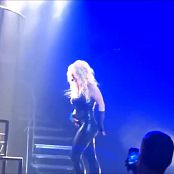 Britney Spears Live Las Vegas Sexy Wet Black Latex Catsuit HD Video