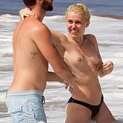 Miley Cyrus Topless Beach 002
