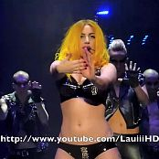 Lady Gaga Sexy Black Latex Bikini And Yellow Hair HD Video