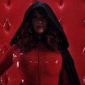 Bianca Beauchamp Gets Dressed In Shiny Red Latex Catsuit HD Video