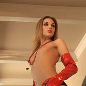 Brianna Love Oversexed Photoshoot Red Latex Gloves Video
