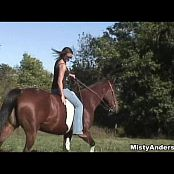 Misty Anderson Horseback Grooming And Riding Video