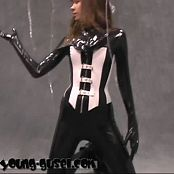 Young Gusel Black Latex Catsuit 150715 wmv