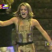 Britney Spears Oops I Did It Again Live Shiny Golden Catsuit Video