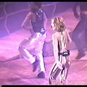 Britney Spears I am a slave for you live at chicago crazy 2k tour Rare Golden Latex Catsuit new 190715 avi