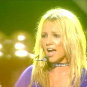 Britney Spears Rare Live Performance In Blue Skin Tight Catsuit Video