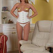 Sherri Chanel White Corset Golden Heart Pasties 001 jpg