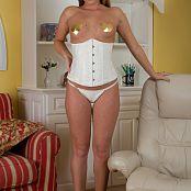 Sherri Chanel White Corset Golden Heart Pasties 008 jpg