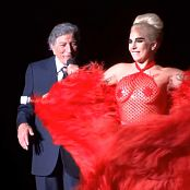 Lady Gaga Sexy Red See Through Dress & Pasties HD Video